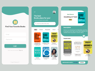 Book App Exploration branding uxdesign ui design interface ux uiuxdesign uidesign ui design app