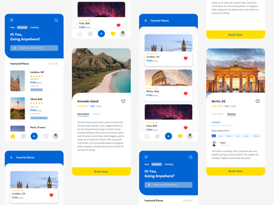 Travel App - Exploration interface illustrator ui design uiuxdesign ios user interface uxdesign ui uidesign app