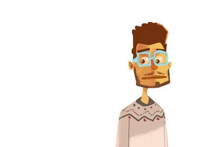 young man illustration character