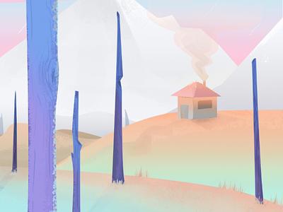 my little cottage cottage illustration colorfull