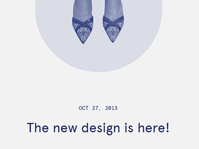 The new design is here! portfolio responsive rwd blog ui ux