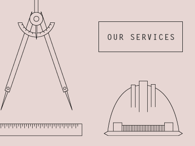 Services icons outline pink black ui