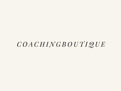 Coaching Botique Logo logo coaching typography