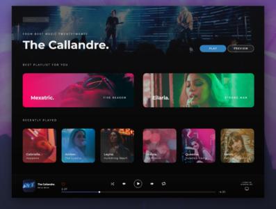 Music Player website design website web design webdesign web ux uiux ui design uidesign ui