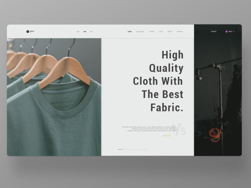 Clothing Store website design website web design webdesign web ux uiux ui design uidesign ui
