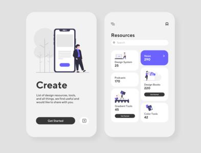 CREATE - Tools UI Design on a Mobile Smartphone website design website web design webdesign web ux uiux ui design uidesign ui