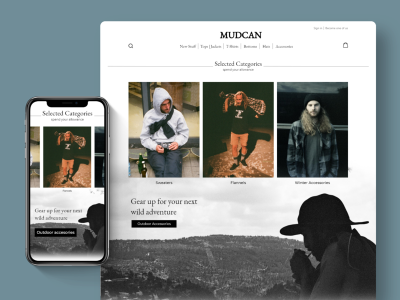 MUDCAN e-commerce website