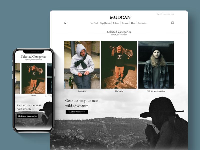 MUDCAN e-commerce website