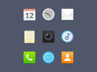 Mobile system UI icons
