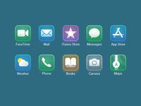 Dark mode icons for iOS