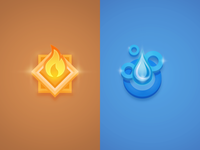 Fire and Water badges