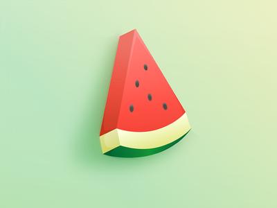 Vector Watermelon fruit illustration vector watermelon