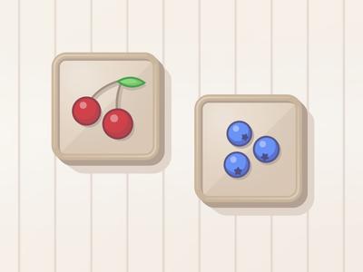 Two Random Berries Icons illustrator flat vector fruits game design game ui ui icons icon fruit berries