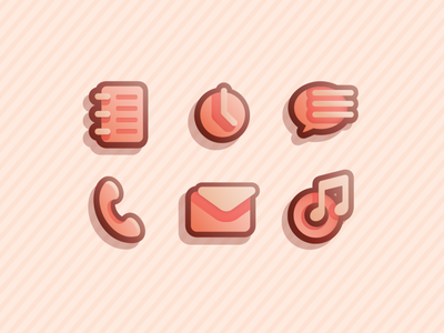 Warm theme icons