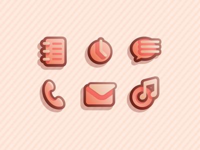 Warm theme icons