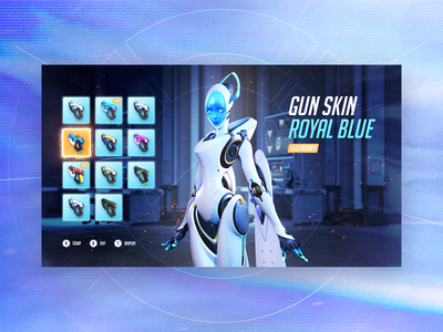 Overwatch Inventory - Concept videogame inventory ui game overwatch