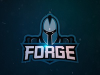 Forge Esports Logo forge graphic illustration gaming esport branding warrior mascot logo