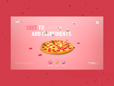 Pizza Game Concept interaction pepperoni cheese mushroom food concept web pizza game
