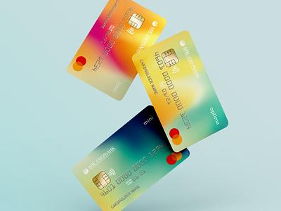 Credit cards design cards bank gradient