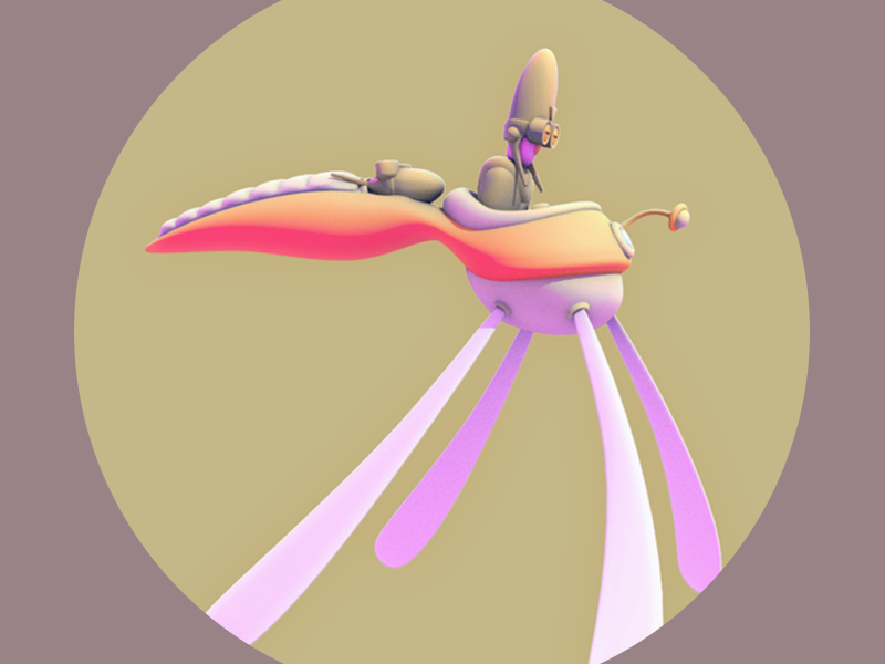 The Last Dragon Fly vehicle character gamecharacter game 3d