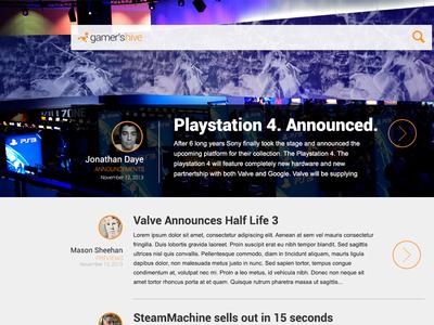 New Blog Design for Gamer's Hive