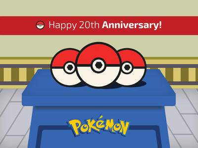 Happy Birthday Pokemon! tribute illustration pokemon