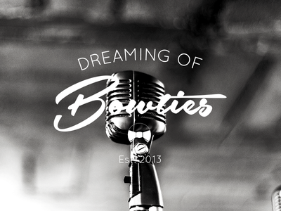 Dreaming of Bowties 1920 music logo branding