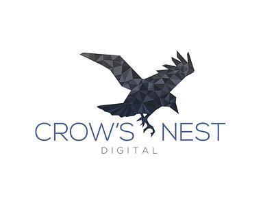 Crows Nest Digital Logo Concept polygon branding brand concept logo crows nest digital
