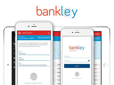 Bankley Mockups bank ux ui interface design mobile desktop browser iphone ipad tablet mockup