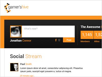GH - Private Profile orange private profile social interface gaming