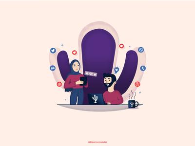 The Social Cactus Couple