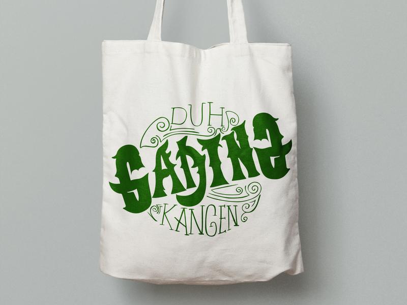 Canvas Tote Bag Duh Kangen freedesign bag design ilusrations type handlettering lettering logo tote bag totebag