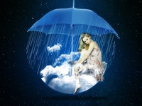 rain in the sky