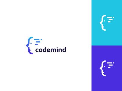 Bracket + C + face in negative space + mind + code