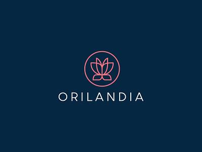 Orilandia cosmetics website approved logo website luxury lotus flower feminine fashion cosmetics logo cosmetics butterfly beauty symbol mark creative design identity brand identity vector logo design logo branding