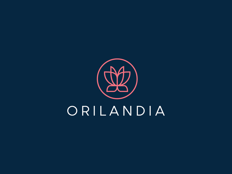Orilandia cosmetics website approved logo website luxury lotus flower feminine fashion cosmetics logo cosmetics butterfly beauty symbol mark creative design identity brand identity vector logo design logo branding
