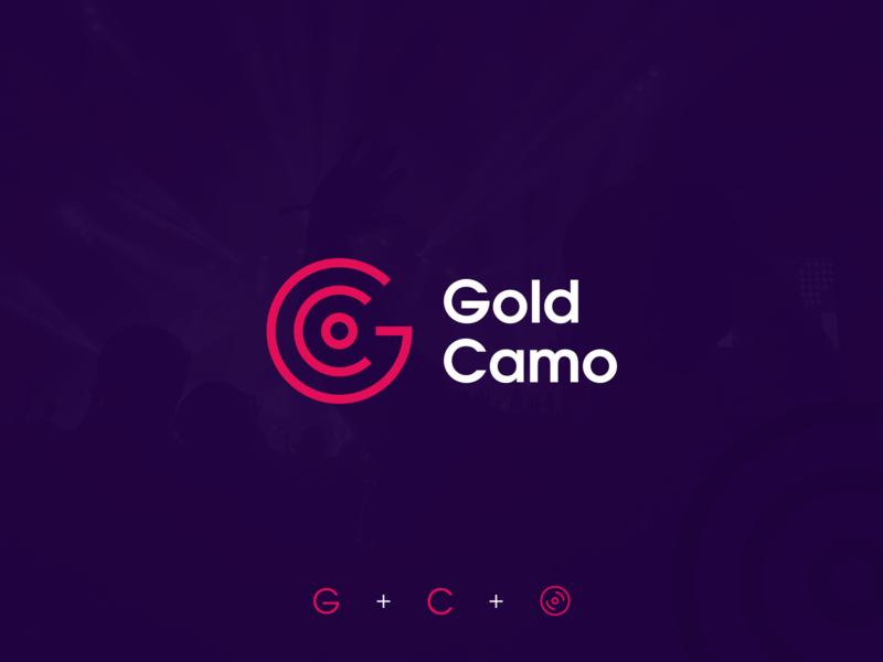 Gold Camo - house music YouTube channel logo party youtube disco icon cd record music house music gc monogram letter symbol mark creative design identity brand identity logo design logo branding vector
