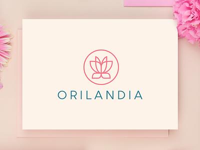 Orilandia logo presentation elegant website luxury lotus flower feminine fashion cosmetics butterfly beauty symbol mark creative design identity brand identity logo design logo branding vector