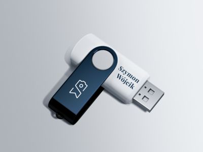 Photographer logo on a pendrive