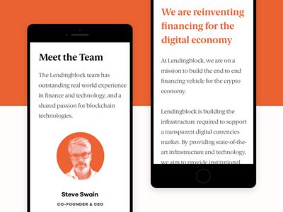 Lendingblock Mobile Website