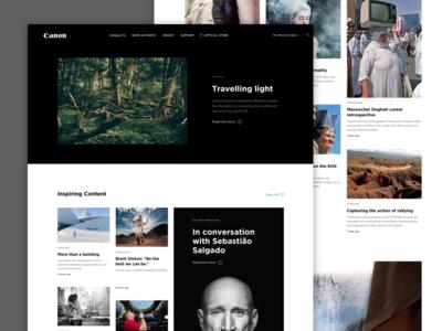 Canon Professional Website