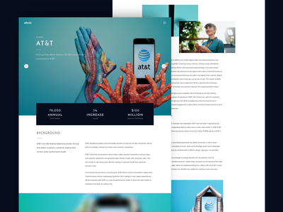 Afiniti Case Study scroll editorial blue ai landing page case study website artificial intelligence
