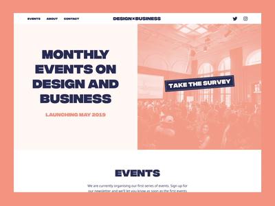 Design x Business - Website