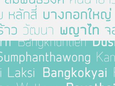Ekkamai New Typeface design font family font design latin thai typeface font