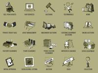NCM Auctions | Graphic Design | Service Icons
