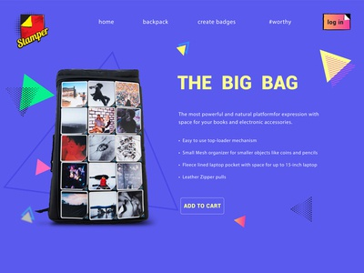 Website design for a Backpack Company