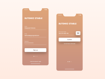 Butenko stable App Sign Up