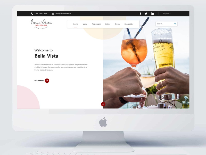 Bella Vista (Website design) ux design website design website web ui