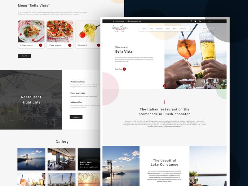 Bella Vista website wordpress website design ux design website ui web