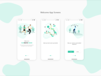 Welcome App Screens